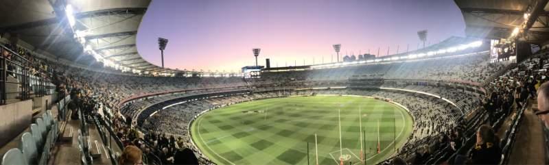 Vista sentada para Melbourne Cricket Ground Secção Q5 Fila H Lugar 13