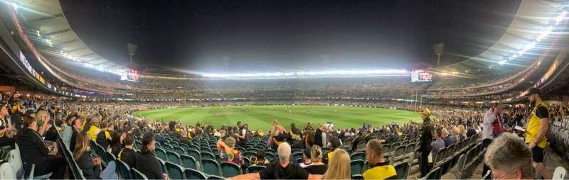 Vista sentada para Melbourne Cricket Ground Secção M15 Fila V Lugar 8