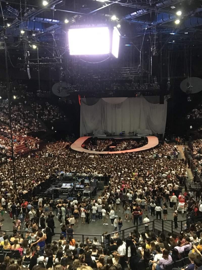 Vista sentada para AccorHotels Arena Secção Balcon A Fila Rang 2 Lugar 21