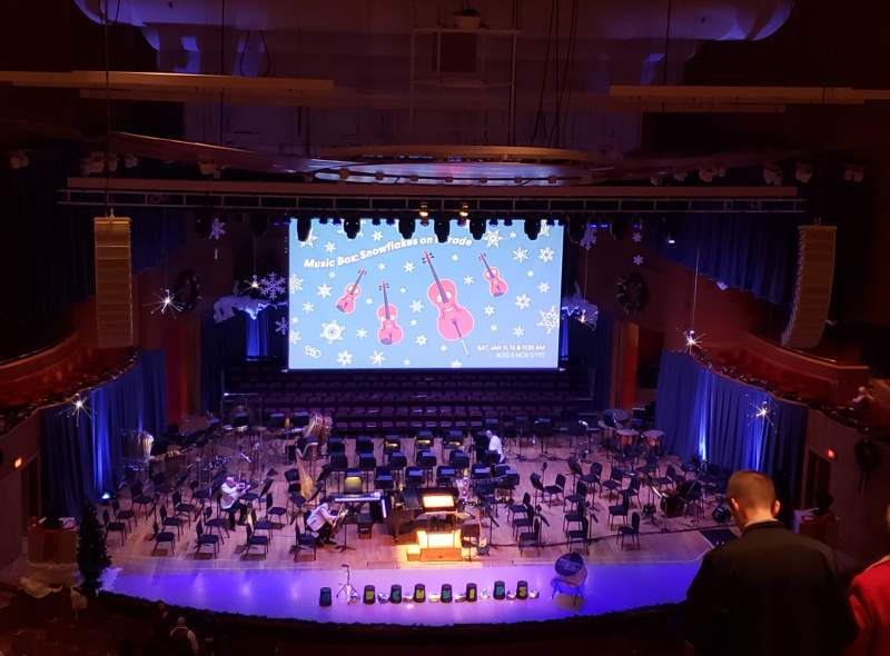 Vista sentada para Joseph Meyerhoff Symphony Hall Secção Terrace Center Left Fila J Lugar 109