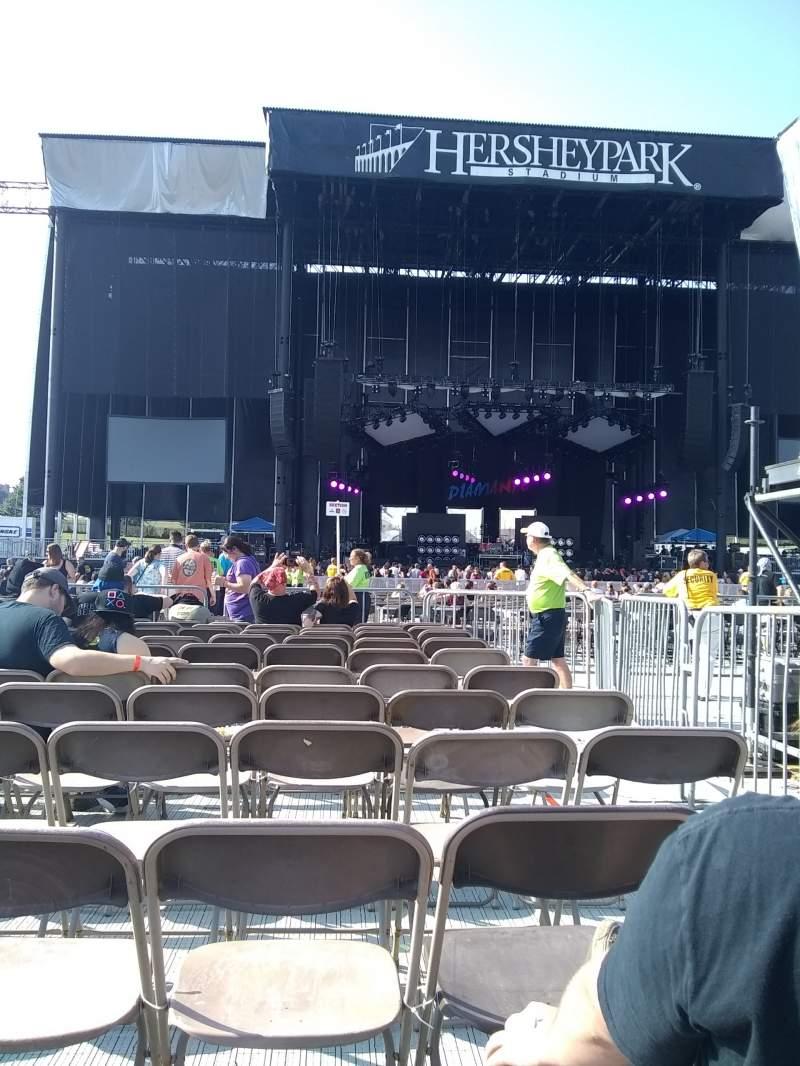 Vista sentada para Hershey Park Stadium Secção E Fila 11 Lugar 3