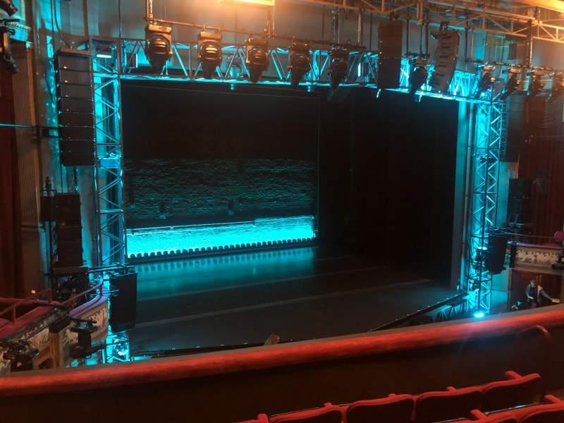 Vista sentada para Broadhurst Theatre Secção Mezzanine L Fila E Lugar 13