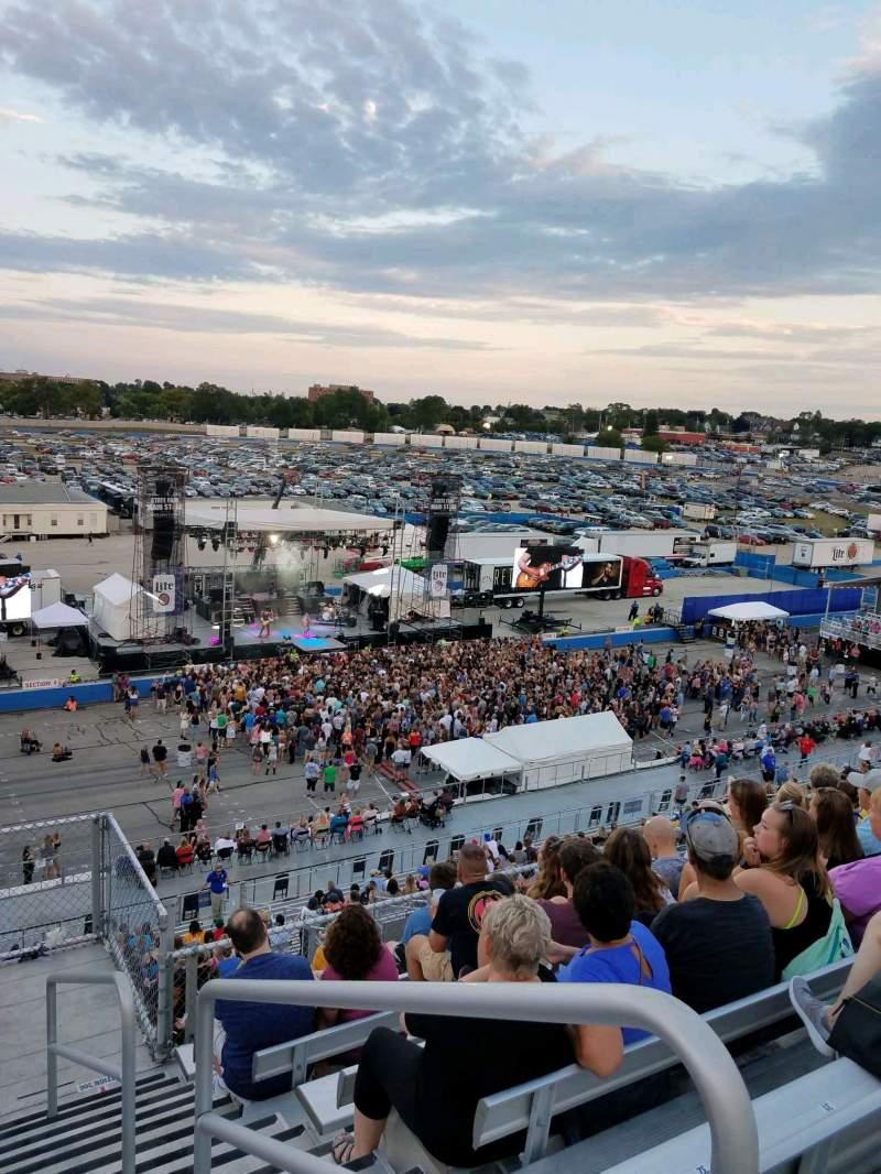 Vista sentada para Wisconsin State Fair Secção 307 Fila 26 Lugar 1
