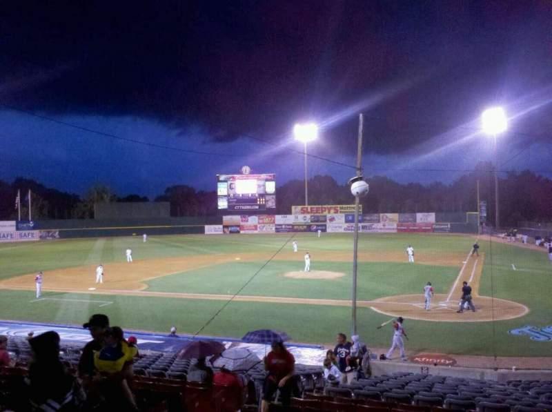 Vista sentada para Dodd Stadium Secção 13 Fila T Lugar 7