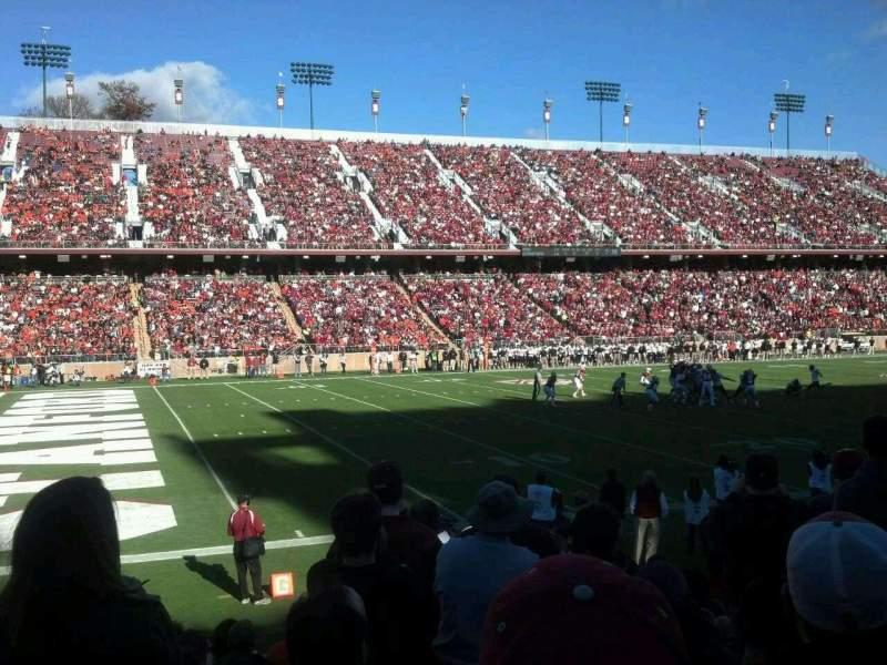 Vista sentada para Stanford Stadium Secção 117 Fila K Lugar 4
