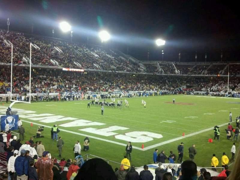 Vista sentada para Stanford Stadium Secção 120 Fila R Lugar 9
