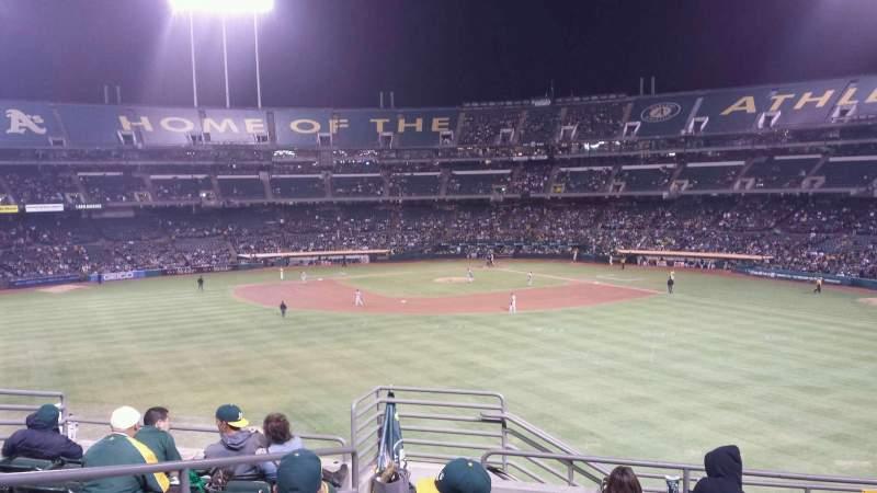 Vista sentada para Oakland Coliseum Secção Plaza Suite 75 Fila 1 Lugar 3