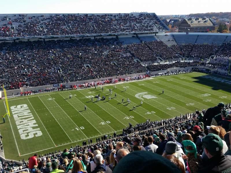 Vista sentada para Spartan Stadium Secção 127 Fila 28 Lugar 20