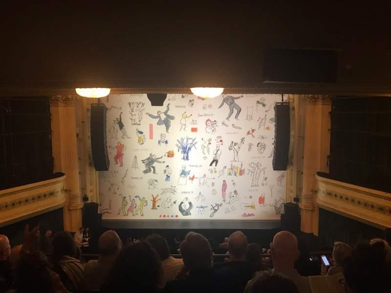 Vista sentada para Hudson Theatre Secção Dress Circle C Fila G Lugar 109