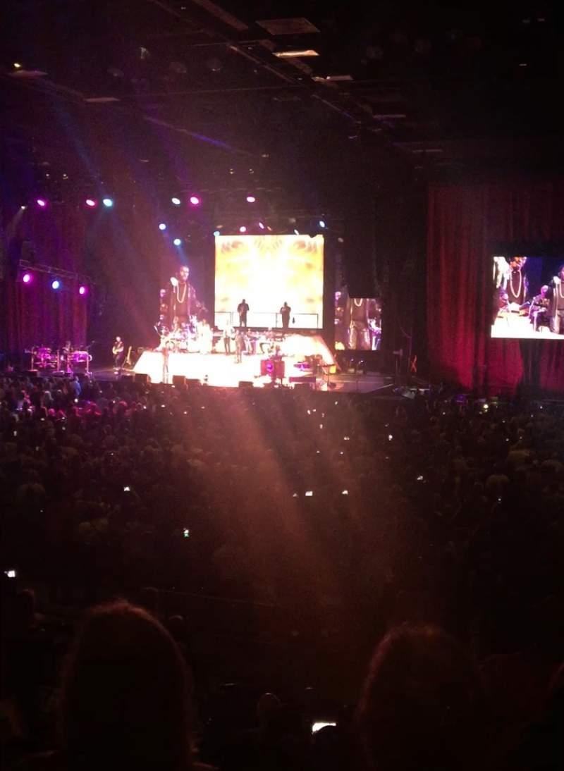 Vista sentada para Hard Rock Live at Etess Arena Secção 205