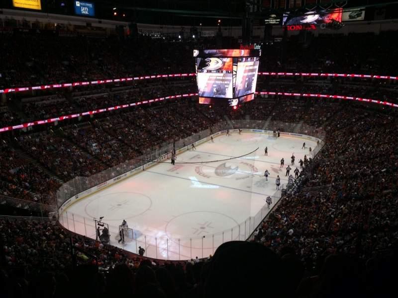 Vista sentada para Honda Center Secção 419 Fila K Lugar 8