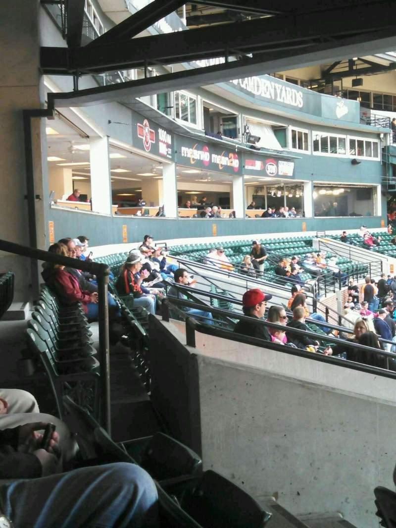 Vista sentada para Oriole Park at Camden Yards Secção 29 Fila 7 Lugar 8