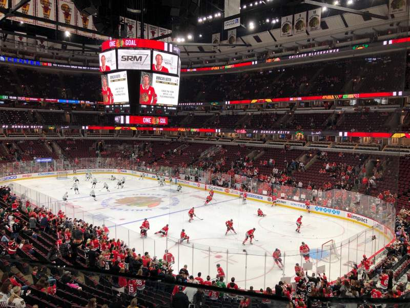 Vista sentada para United Center Secção 213 Fila 1 Lugar 6
