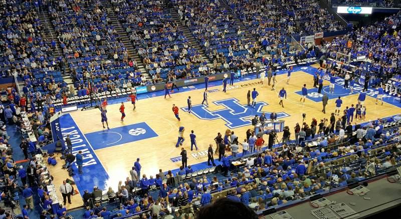 Vista sentada para Rupp Arena Secção 215 Fila D Lugar 20