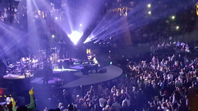 Vista sentada para Madison Square Garden Secção 116 Fila 17 Lugar 14