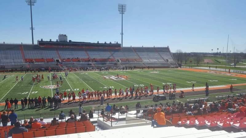Vista sentada para Doyt Perry Stadium Secção 17 Fila 32 Lugar 11