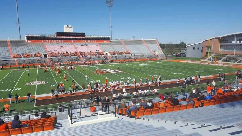 Vista sentada para Doyt Perry Stadium Secção 12 Fila 32 Lugar 7