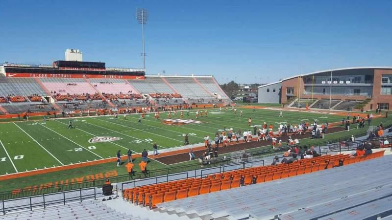 Vista sentada para Doyt Perry Stadium Secção 10 Fila 33 Lugar 5