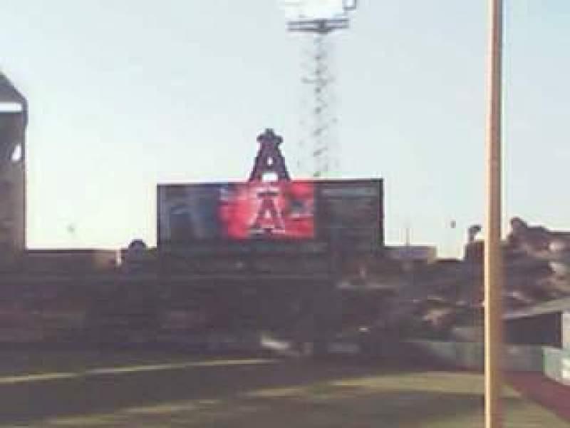 Vista sentada para Angel Stadium Secção F132