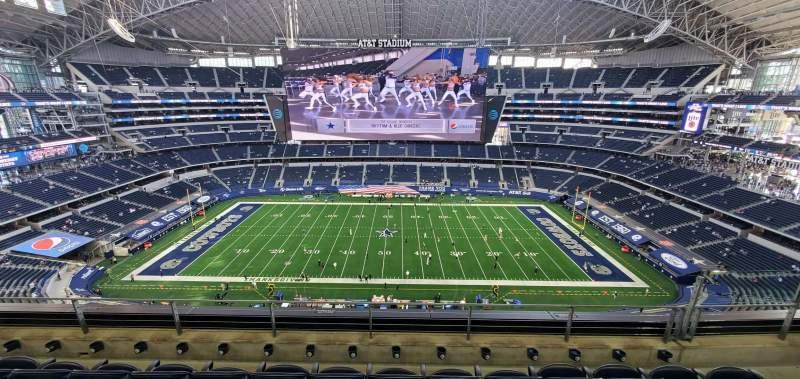 Vista sentada para AT&T Stadium Secção 443 Fila 4 Lugar 12