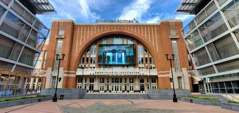 Vista sentada para American Airlines Center Secção South Entrance