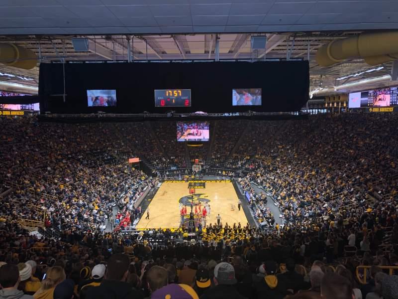 Vista sentada para Carver-Hawkeye Arena Secção H Fila 42 Lugar 8
