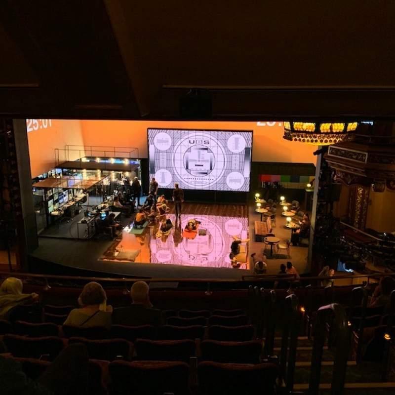 Vista sentada para Belasco Theatre Secção Mezzanine C Fila H Lugar 111