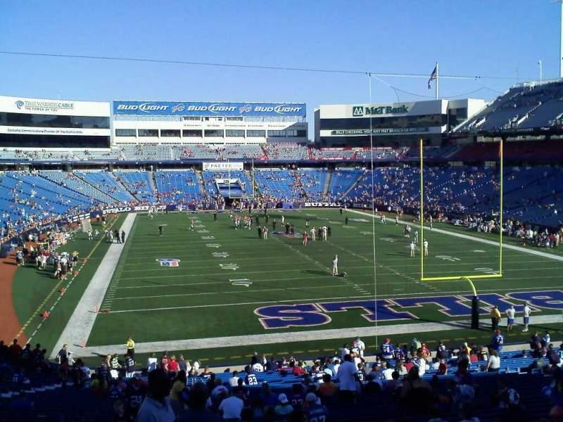 Vista sentada para Highmark Stadium Secção 104