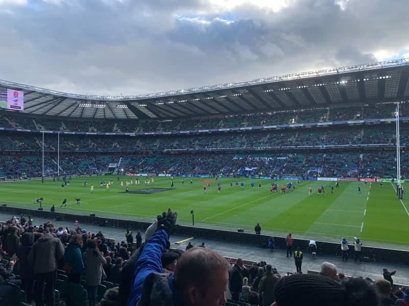 Vista sentada para Twickenham Stadium Secção L22 Fila 27 Lugar 108