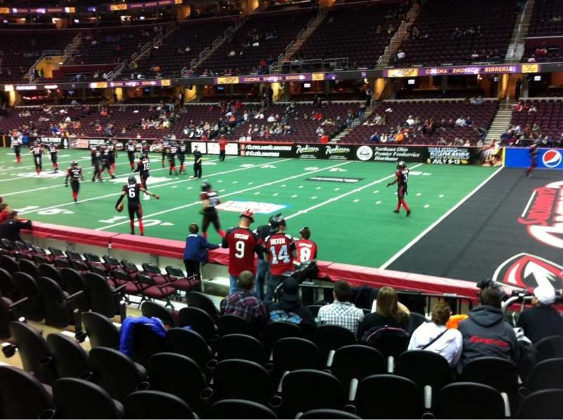 Vista sentada para Quicken Loans Arena Secção 131 Fila 12 Lugar 6