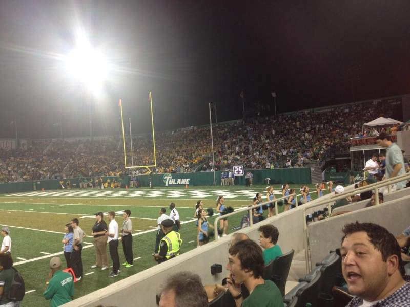 Vista sentada para Yulman Stadium Secção 108 Fila D Lugar 9