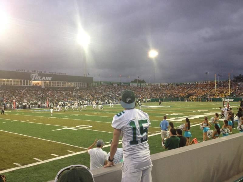 Vista sentada para Yulman Stadium Secção 102 Fila C Lugar 17