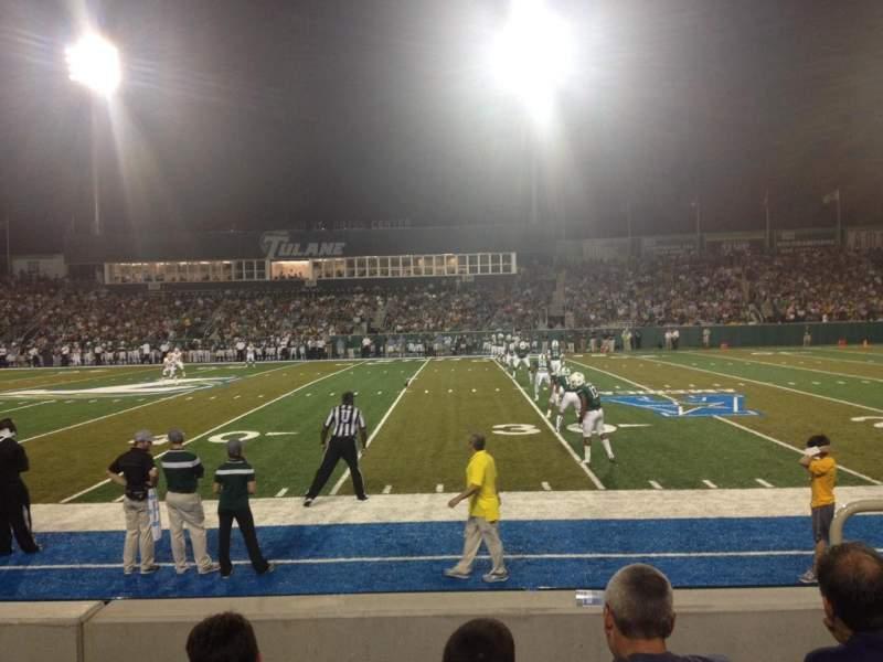 Vista sentada para Yulman Stadium Secção 107 Fila D Lugar 3