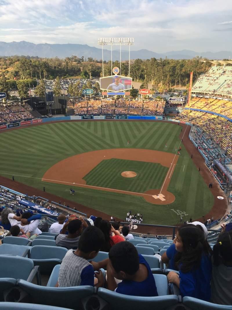 Vista sentada para Dodger Stadium Secção 9TD Fila K Lugar 8