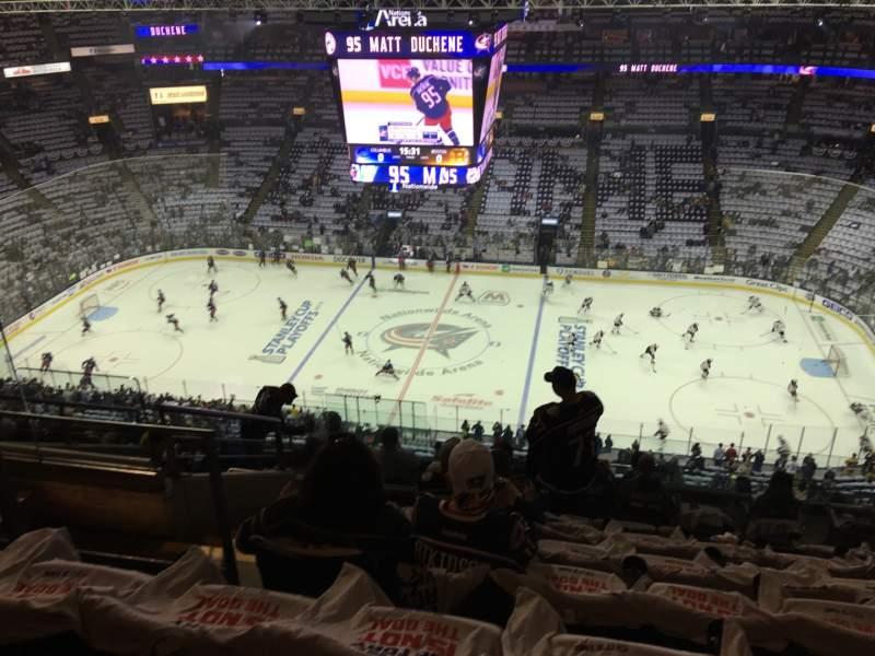 Vista sentada para Nationwide Arena Secção 216 Fila L Lugar 18