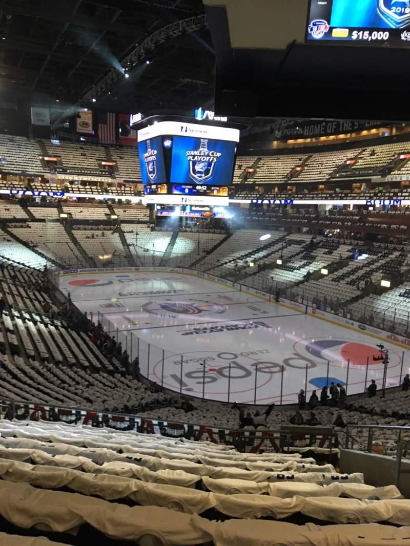 Vista sentada para Nationwide Arena Secção 122 Fila MM Lugar 7