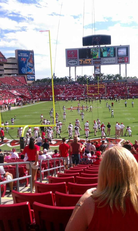 Vista sentada para Raymond James Stadium Secção 149 Fila Z Lugar 3