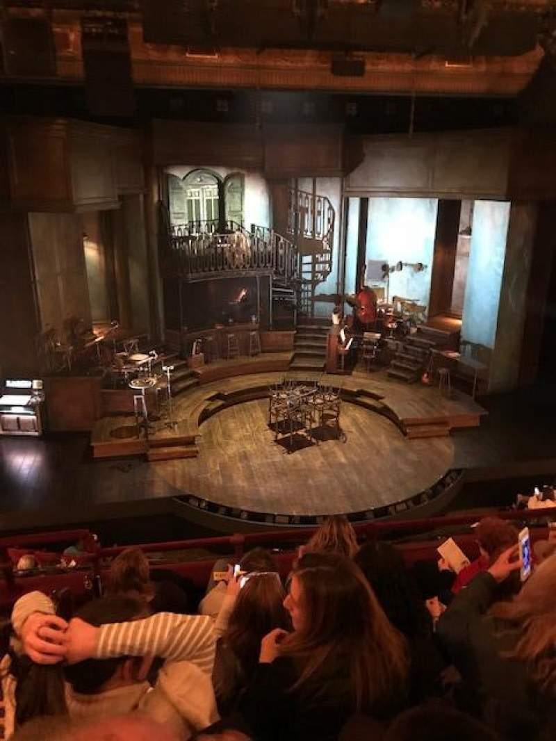 Vista sentada para Walter Kerr Theatre Secção Mezzanine C Fila E Lugar 114