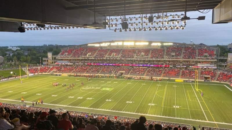 Vista sentada para TD Place Stadium Secção CC Fila 23 Lugar 11