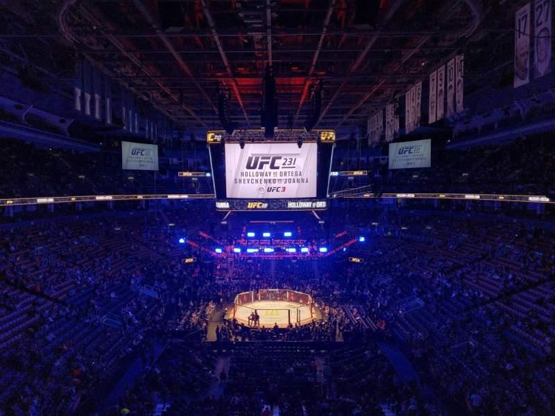 Vista sentada para Scotiabank Arena Secção 315 Fila 2 Lugar 9