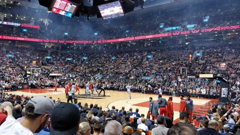 Vista sentada para Scotiabank Arena Secção 118 Fila 8 Lugar 1