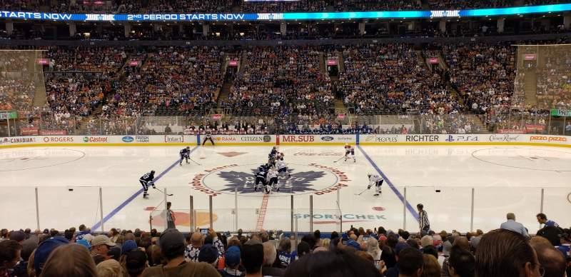 Vista sentada para Scotiabank Arena Secção 108 Fila 20 Lugar 10