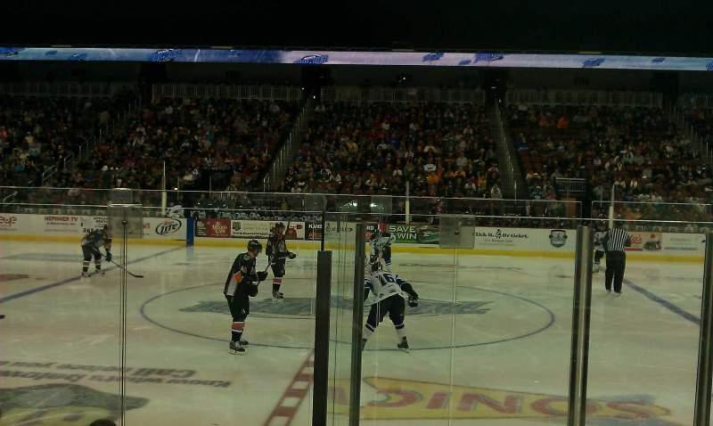 Vista sentada para Intrust Bank Arena Secção 103 Fila F Lugar 5