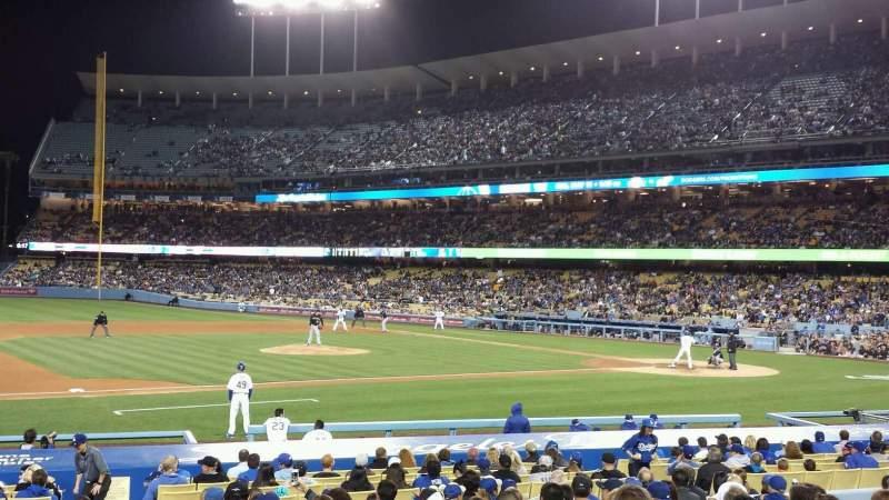 Vista sentada para Dodger Stadium Secção 25FD Fila O Lugar 1
