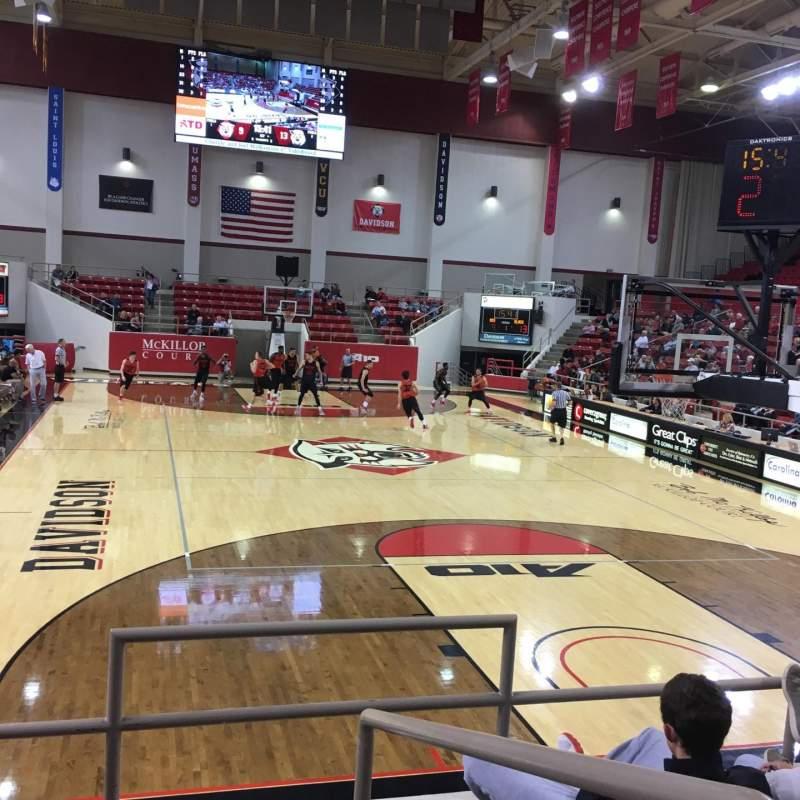 Vista sentada para John M. Belk Arena Secção 2 Fila F Lugar 1