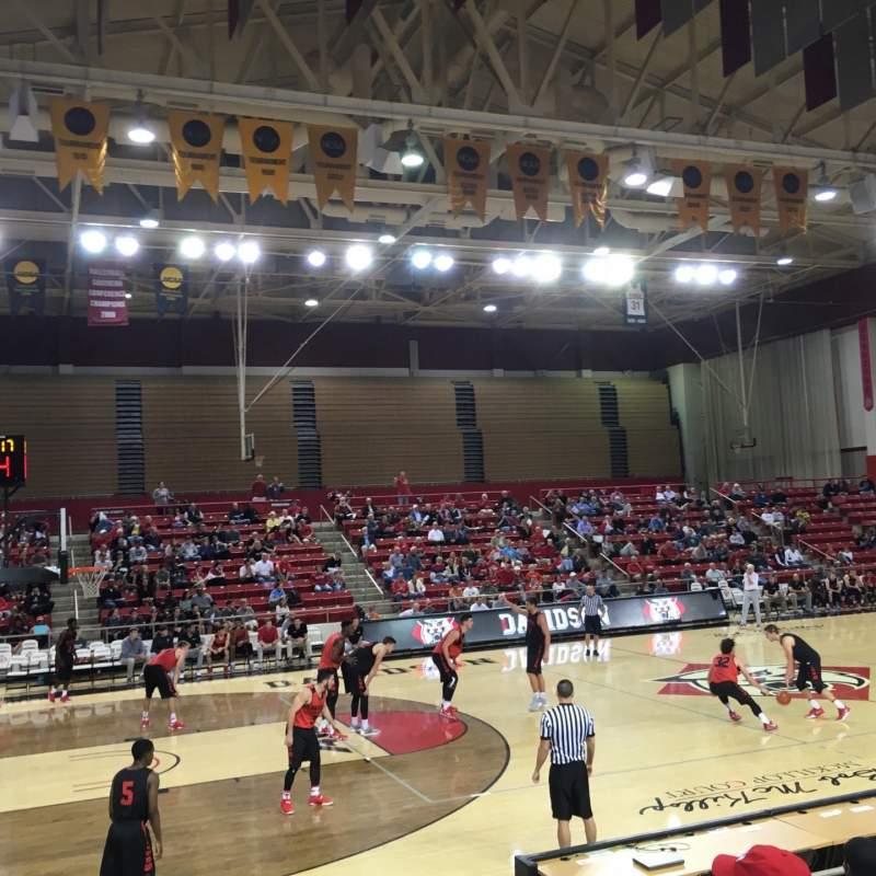 Vista sentada para John M. Belk Arena Secção 7 Fila C Lugar 3