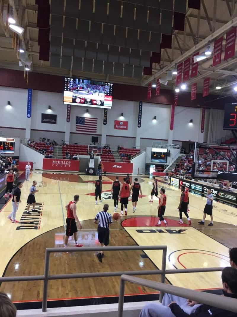 Vista sentada para John M. Belk Arena Secção 3 Fila D Lugar 1