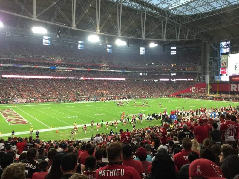 Vista sentada para State Farm Stadium Secção 113 Fila 34 Lugar 35
