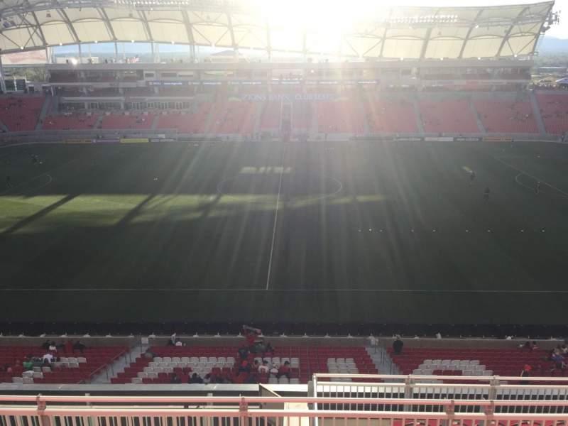 Vista sentada para Rio Tinto Stadium Secção 201 Fila H Lugar 10