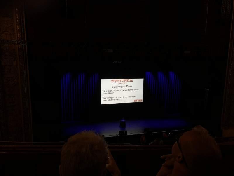 Vista sentada para Chicago Theatre Secção Balcony3L Fila B Lugar 315